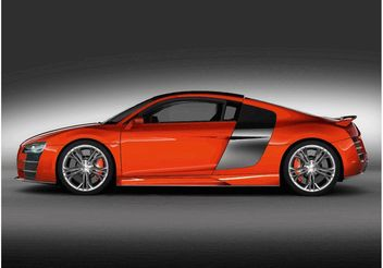 Orange Audi R8 - vector #148963 gratis