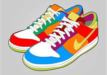 Colorful Shoes - Kostenloses vector #149073
