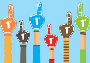 #1 Foam Finger Vectors - бесплатный vector #149203