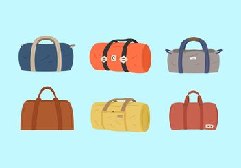 Duffle Bags Vector Illustrations Free - vector gratuit #149233