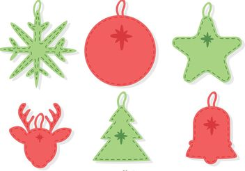 Stitched Christmas Ornament Decoration Vector Pack - бесплатный vector #149263