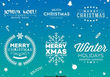 Christmas Type Signs - Kostenloses vector #149273
