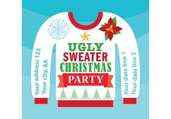 Ugly Christmas Sweater Card - vector gratuit #149313