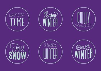 Winter Badge Vectors - Free vector #149343