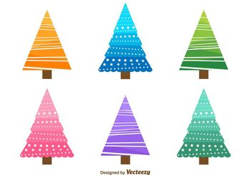 Christmas Tree Doodles - Free vector #149363