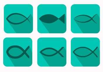 Christian Fish Symbol Vectors - бесплатный vector #149403