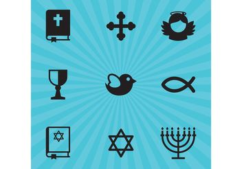 Religion Vector Icons - Free vector #149443