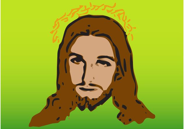 Jesus Vector Portrait - Free vector #149453