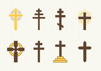 Free Christian Crosses Vector - бесплатный vector #149513