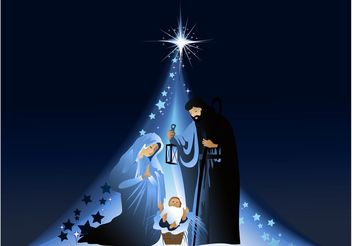 Nativity Vector - vector #149523 gratis