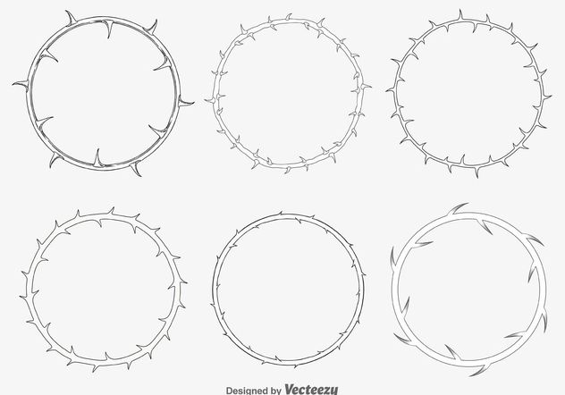 Thorn Frames - Free vector #149643