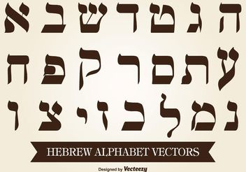 Hebrew Alphabet Vector - Free vector #149663