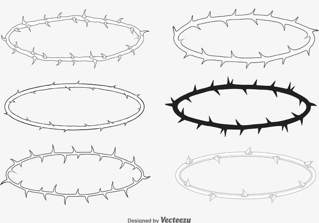 Crown of Thorn Vectors - Free vector #149723