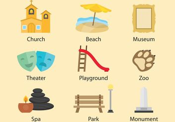 Recreation And Tourism Vectors - vector gratuit #149733
