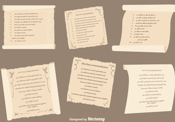 Ten Commandments Set - Free vector #149783