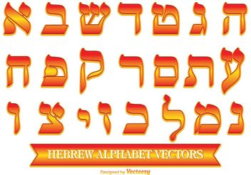 Decorative Hebrew Alphabet - vector #149803 gratis