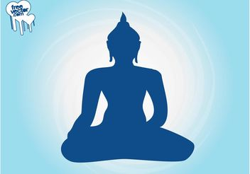 Buddha Silhouette - Free vector #149833