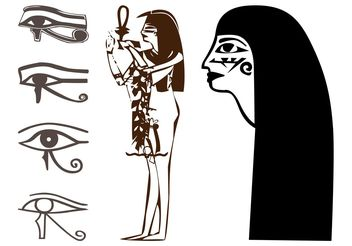 Egyptian Drawings Set - Free vector #149843