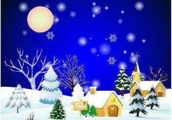 Christmas Town - Free vector #149913