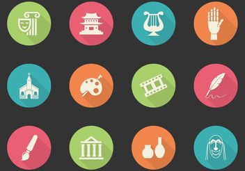 Free Arts And Culture Vector Icons - Free vector #149923
