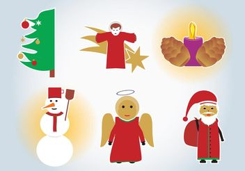 Xmas Vector Drawings - Free vector #149933