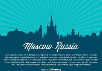 Moscow Russia Skyline Vector Illustration - vector gratuit #149963