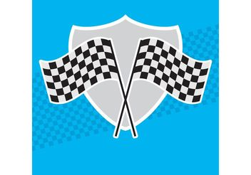 Racing Flag Vectors - vector gratuit #150133