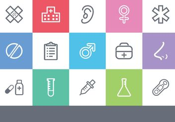 Free Medical Outlined Vector Icons - vector gratuit #150143