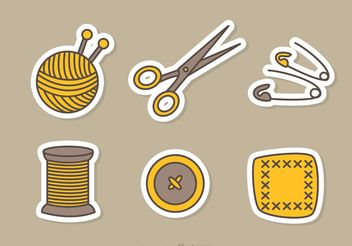 Sewing And Needlework Vector Icons - vector #150183 gratis