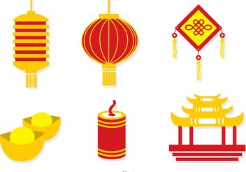 Chinese Lunar New Year Icons Vector - Free vector #150213