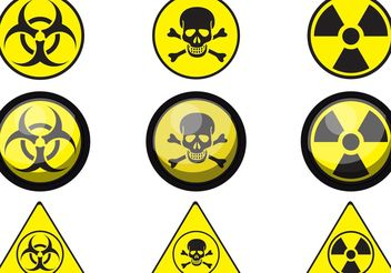 Sign of Poison Vectors - Free vector #150233