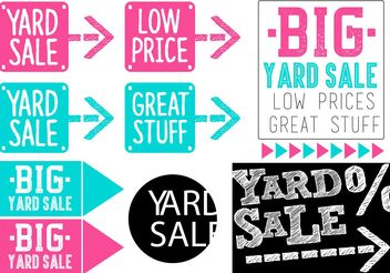 Yard Sale Vector Banner Set - vector gratuit #150453