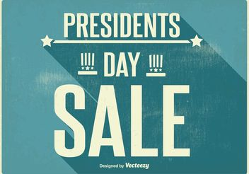 Vintage Presidents Day Sale Poster - vector gratuit #150473