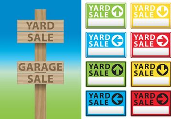 Yard Sale Billboard Vectors - vector gratuit #150493