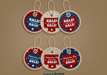 July 4th Sale Labels - vector #150513 gratis