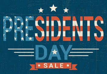 Free Presidents Day Sale Vector - vector gratuit #150533