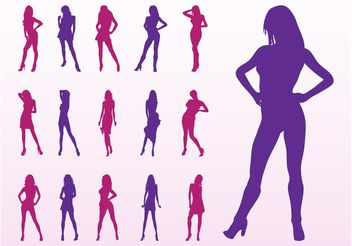 Fashion Model Silhouettes - vector gratuit #150543