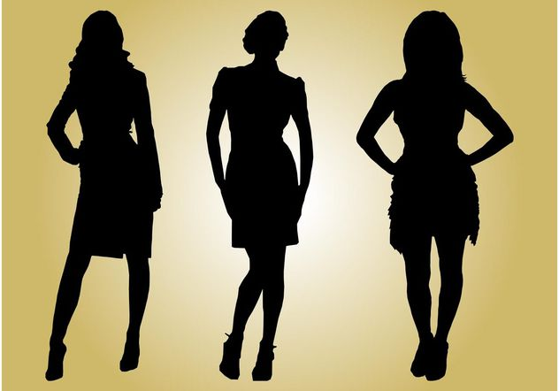 Fashion Models Silhouettes - Free vector #150553