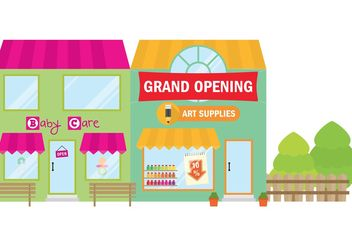 Grand Opening Stores - vector gratuit #150573
