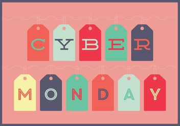 Cyber Monday Tag Template - vector gratuit #150623