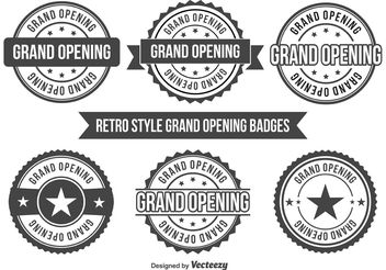 Grand Opening Badges - vector gratuit #150653