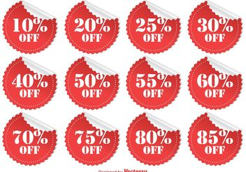 Discount Stickers - vector #150663 gratis
