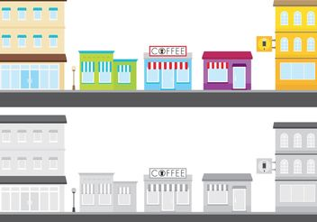 Outdoor Shops Vector - бесплатный vector #150673