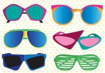 80's Sunglasses Vectors - бесплатный vector #150803