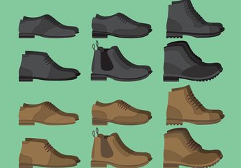 Man Shoes Vectors - бесплатный vector #150813