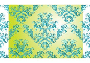 Free Damask Vector Pattern - бесплатный vector #150823