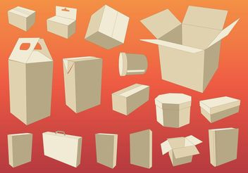 Cardboard Boxes - Free vector #150853