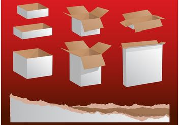 Paper Boxes Graphics - Free vector #150883