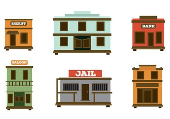 Old Western Town Vectors - Free vector #150923