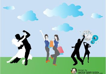 Happy People Vector - vector #150983 gratis